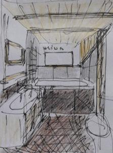 koupelna horní návrh